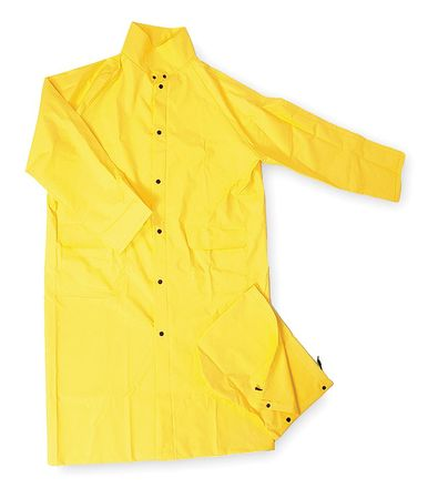 FR Raincoat with Detach Hood, Yellow, L