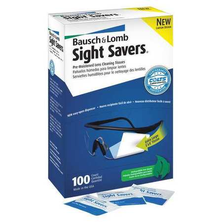 Pre-moistened Cleaning Tissues,  Sight Savers,  100 Pack