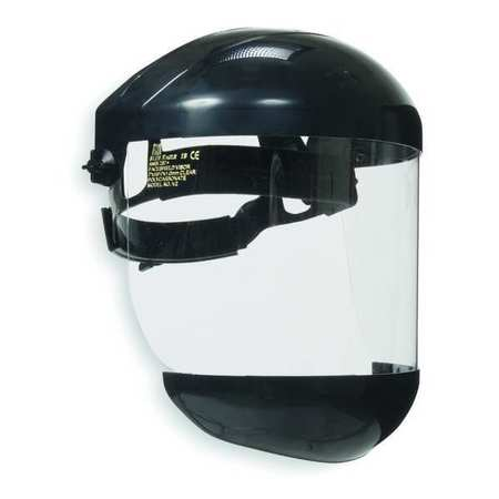Ratchet Faceshield Asmbly, Blk, 7x15-1/2in