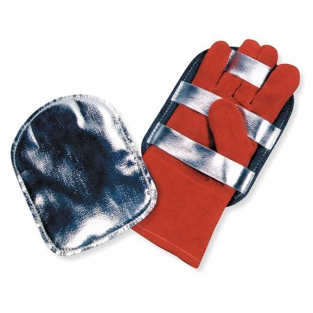 Glove Protector,  Aluminized outer Shell,  Felt Lined,  Leather Straps