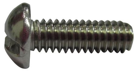 "#10-32 x 3/8"" Round Head Slotted Machine Screw,  100 pk."