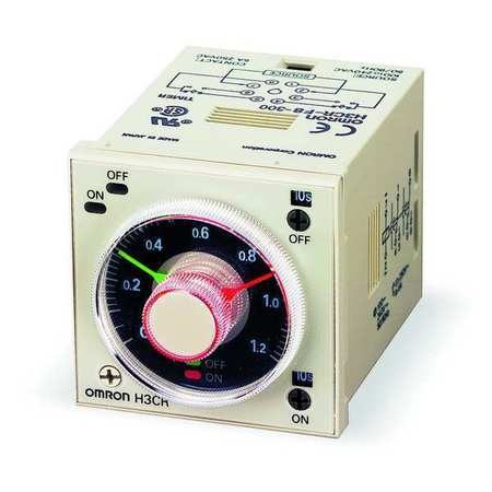 Time Delay Relay, 120VAC, 5A, DPDT, Socket