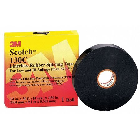 "Splicing Tape, 30 mil, 1"" x 30 ft., Black"