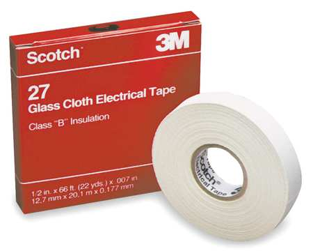 "Electrical Tape, 7 mil, 3/4"" x 66 ft., Wht"