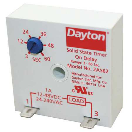 Dayton Encapsulated Timer Relay, 1A, Solid State 2A562 | Zoro.com on relay schematic diagram, solid state voltage regulator, solid state relay circuit, electrical relay diagram, solid state relay dimensions, how does a relay work diagram, solid state relay heater, solid state relays ssr, solid state relay schematic, solid state relay operation, solid state relay failure, latching relay diagram, digital temperature controller circuit diagram, solid state relay 12v, solid state relays how they work, solid state relay application, solid state relay symbol, solid state relay tutorial, selenium rectifier diagram, solid state relay switch,