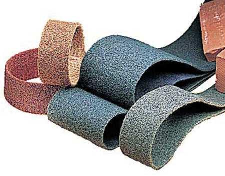 Sanding Belt, 2Wx132 In L, NonWoven, AO, Med,  Min. Qty 5