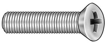 "#6-32 x 1/2"" Oval Head Phillips Machine Screw,  100 pk."