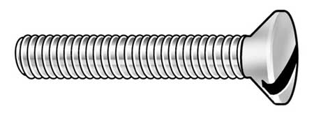 "#10-24 x 3/4"" Oval Head Slotted Machine Screw,  100 pk."
