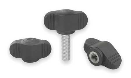 Mini Wing Knob, Ext , SS, M8, 0.78 In, 1.38