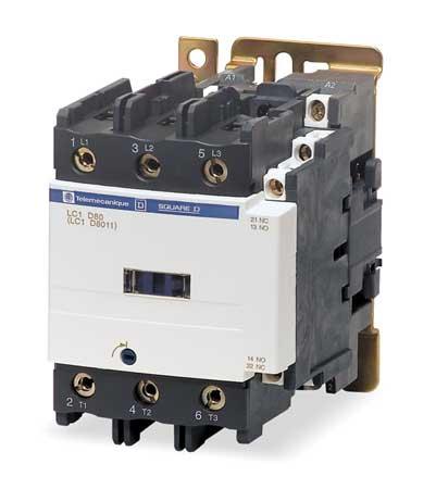 Contactor, IEC, 120VAC, 3P, 80A