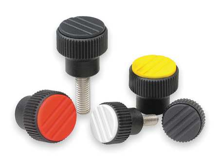 "Knurled Knob,  1/4-20 Internal Thread,  0.83""L,  Thermoplastic"