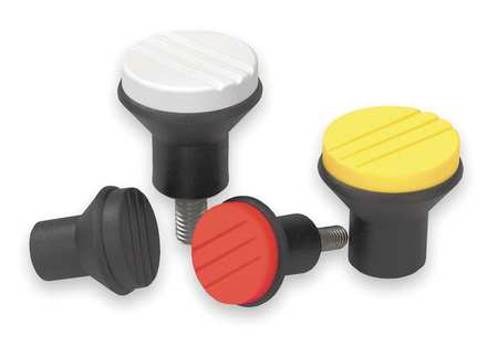 "Mushroom Knob,  M4 Internal Thread,  0.83""L,  Thermoplastic"