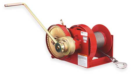 Hand Winch, Spur Gear, w/Brake, 4000 lb.