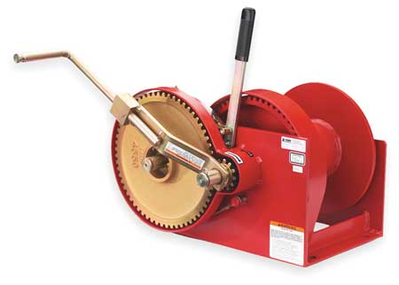 Hand Winch, Spur Gear, No Brake, 10, 000 lb.
