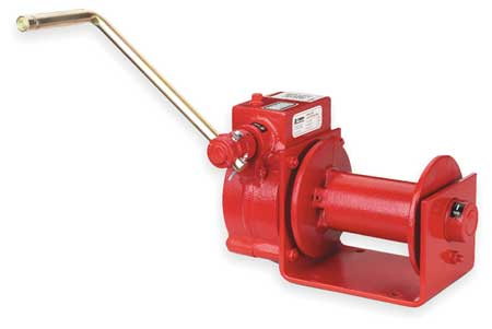 Hand Winch, Worm Gear, 2000 lb.