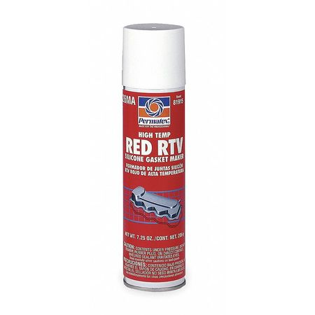 RTV Silicone Sealant, 7.25 oz Tube, Red