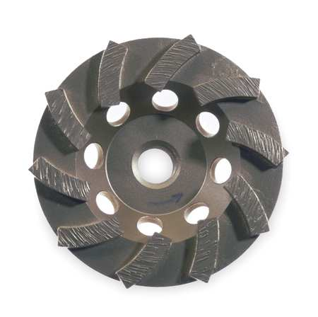 Segment Cup Wheel, Diamond, Turbo, 5x5/8-11