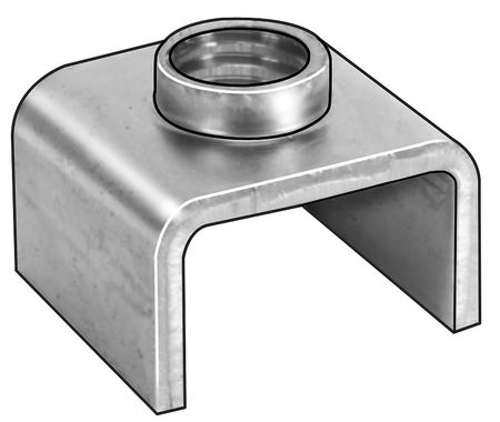 "3/8""-16 Cold Rolled Steel Square T-Joint Fastener,  10 pk."