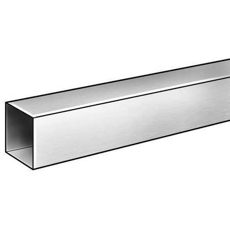 Square Tube, 6063AL, 7/8 In Inside Sq, 1 ft