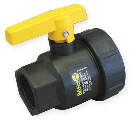"1-1/4"" FNPT Polypropylene Ball Valve Single Union"
