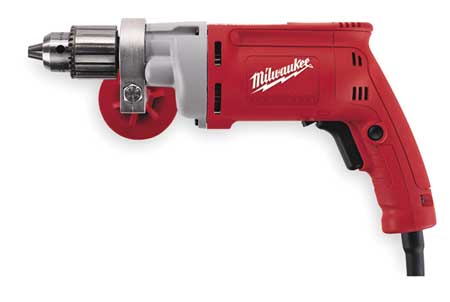 Electric Drill, 1/2 In, 0 to 850 rpm, 8.0A