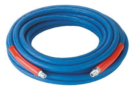 """3/8"""" ID x 50 ft Coupled Air Hose 4000 PSI BL"""