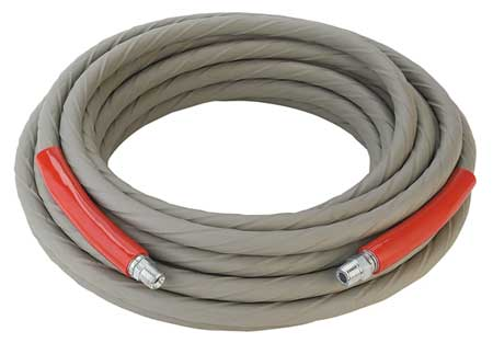 "3/8"" ID x 100 ft Coupled Air Hose 4000 PSI GY"