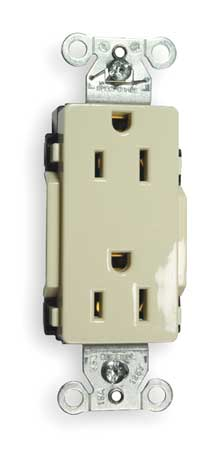 15A Duplex Decorator Receptacle 125VAC 5-15R Almond