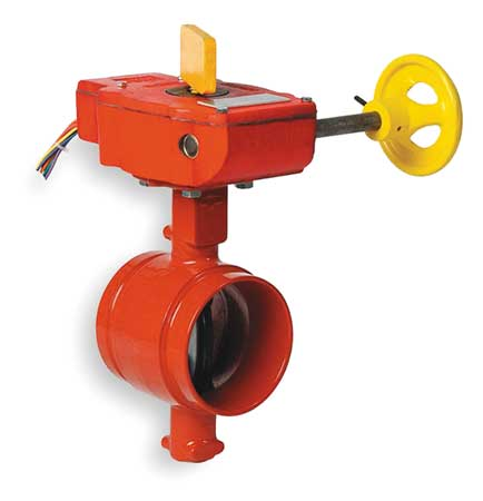 Butterfly Valve, Grooved, 5 In, Iron