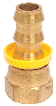 Hose Fitting, 1/2 In. ID, 3/4-16, (F) JIC