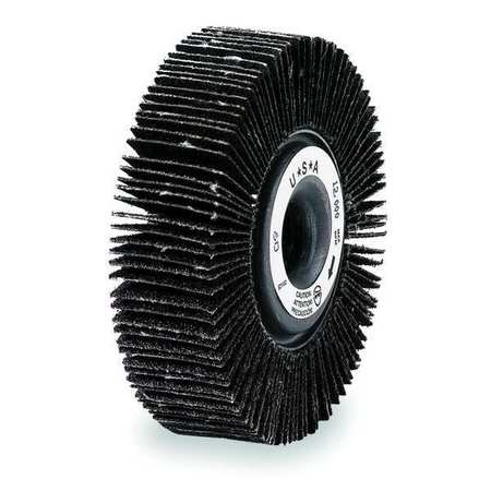 Flap Wheel, CA, 4 In Diax1 In Wx5/8 AH, 60G