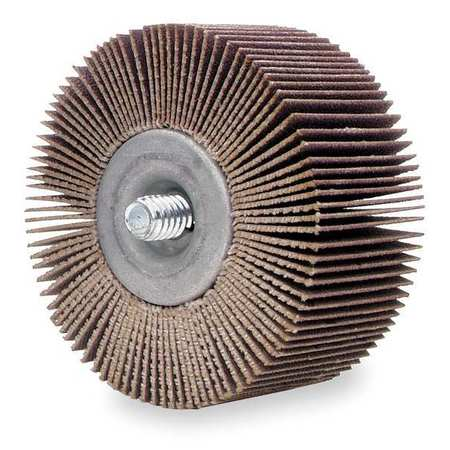 Flap Wheel, AO, 1x1x1/4-20 Shank, 80G