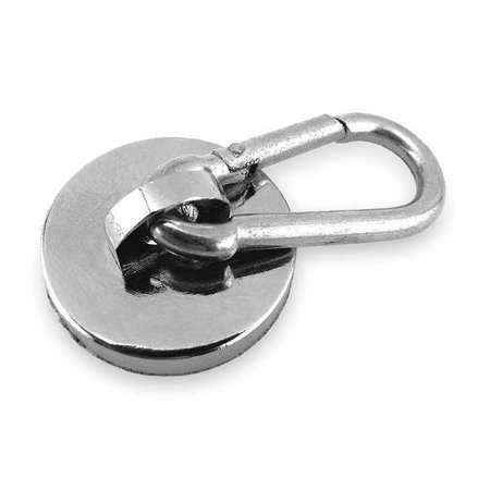 Magnetic Base,  Carabiner Hook,  45 Lb.