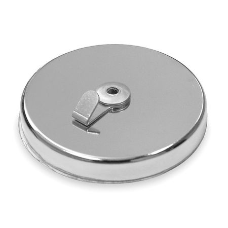 Magnetic Hook, Chrome, 65 Lb