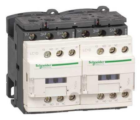IEC Magnetic Contactr, 120VAC, 9A, Revrsing