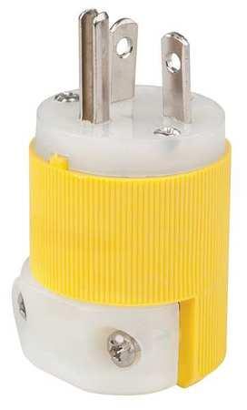 Straight Blade Plug, 20A, 5-20P, Yellow