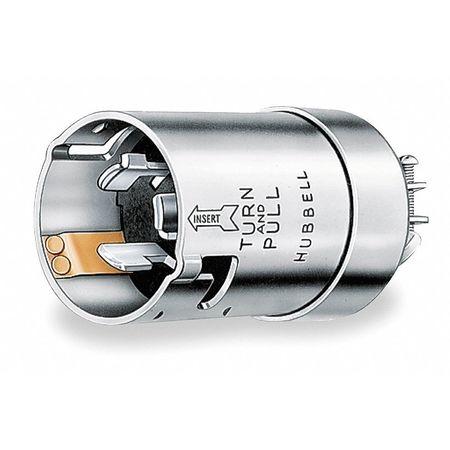 50A Marine Locking Plug 2P 3W 125VAC GY