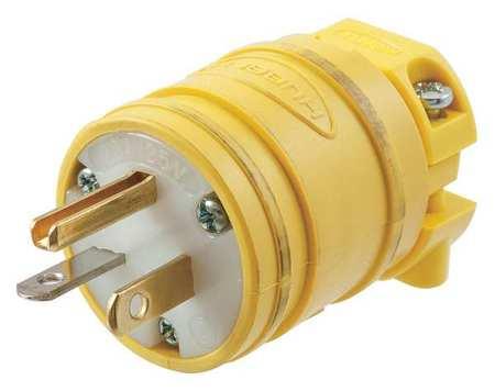 3 Wire Flip Seal Straight Blade Plug 125VAC 20A