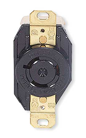 20A Locking Receptacle 2P 3W 600VAC L9-20R BK