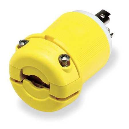 30A Marine Locking Plug 2P 3W 125VAC L5-30P YL