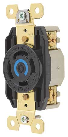 30A Locking Receptacle 4P 4W 120/208VAC L18-30R BK