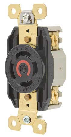 30A Locking Receptacle 4P 4W 277/480VAC L19-30R BK