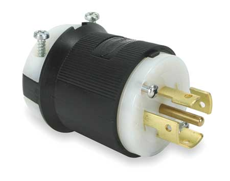 20/10A Locking Plug 4P 5W 250/600VAC BK/WT
