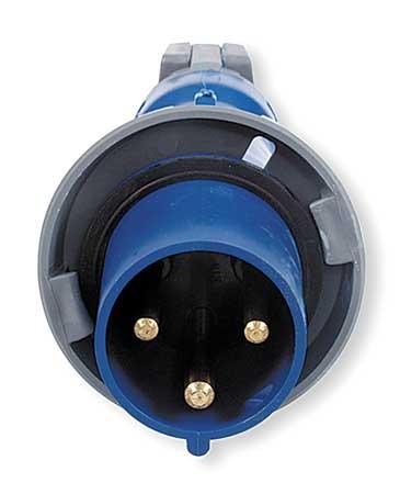 IEC Pin and Sleeve Plug, 2P, 3W, 30A, 250V