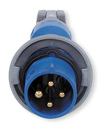 IEC Pin and Sleeve Plug, 3P, 4W, 30A, 250V