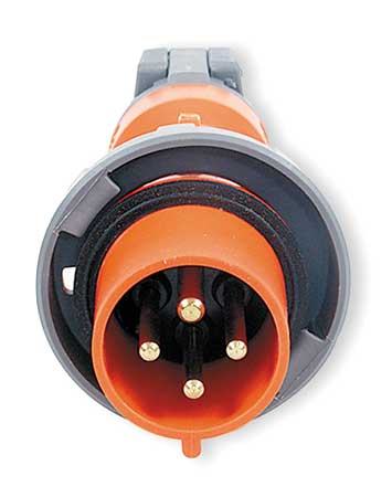 IEC Pin and Sleeve Plug, 3P, 4W, 100A, 250V