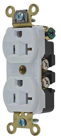 20A Duplex Receptacle 125VAC 5-20R WH