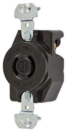 20A Locking Receptacle 2P 2W 250VAC L2-20R BK