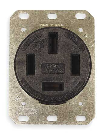 60A 4W Single Receptacle 120/208VAC 18-60R BK