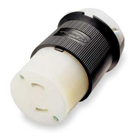 15A Locking Connector 2P 2W 125VAC L1-15R BK/WT